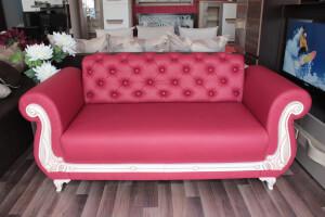 Canapea fixa rosie 2 locuri Fancy