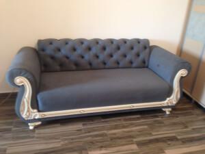 Canapea fixa gri 2 locuri Fancy