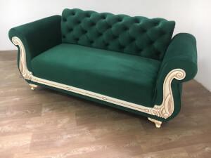 Canapea fixa verde 2 locuri Fancy