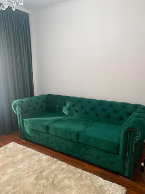 Canapea Chesterfied 3 locuri verde 1