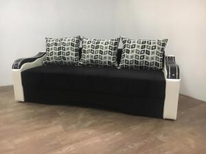 Canapea Eco Ornament negru cu alb