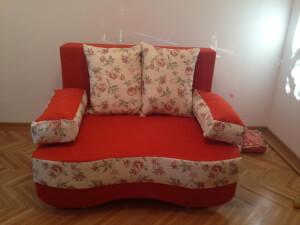 Canapea Junior 2 locuri rosu