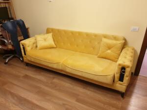 Canapea Lizbon galbenă
