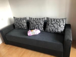 Canapea Monaco gri închis