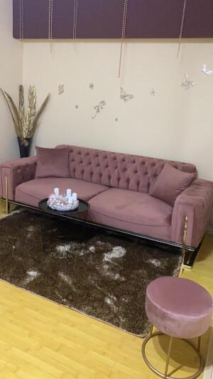 Canapea roz pudră - model Rolex