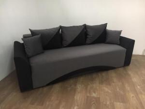 Canapea Venetia gri negru