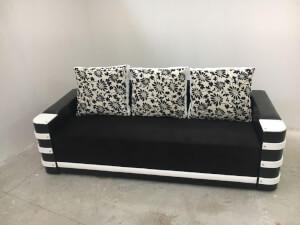 Canapea alb cu negru - model Lara