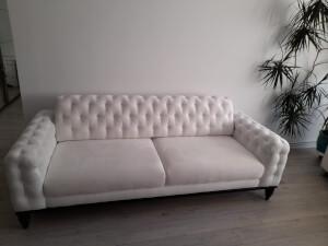 Canapea alba model JASMINE