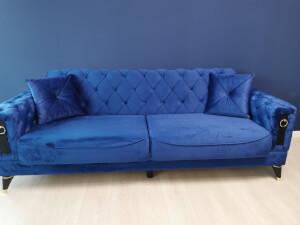 Canapea albastra model LIZBON 1