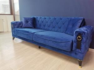 Canapea albastra model LIZBON