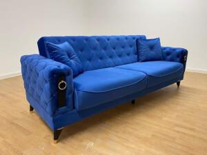 Canapea albastră model Lizbon