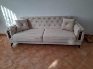 Canapea crem model Lizbon