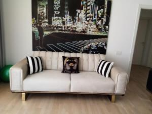 Canapea crem model Otto