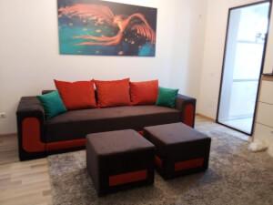 Canapea extensibila cu tabureti - model EVA