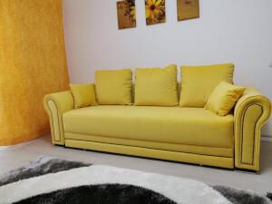 Canapea galbenă model Alexandra
