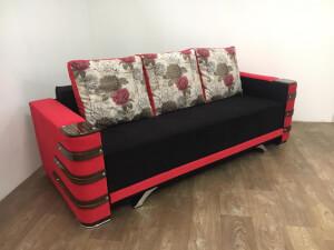 Canapea negru cu rosu - model Lara