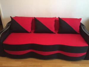 Canapea rosu cu negru - model Milano