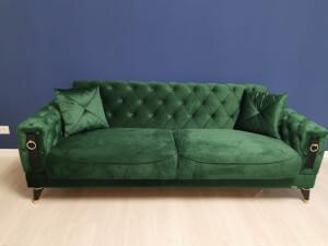 Canapea verde model LIZBON