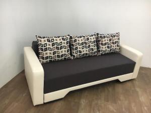 Canapea wenge cu crem - model Mirela