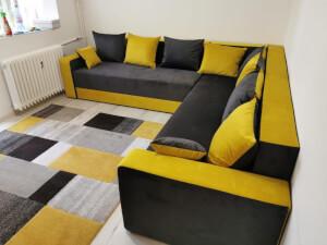 Colțar la comandă negru cu galben 1