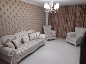 Set 1 canapea cu 2 fotolii crem - model SEHEREZAT