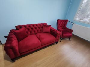 Set canapea cu 2 fotolii - imaginea 01
