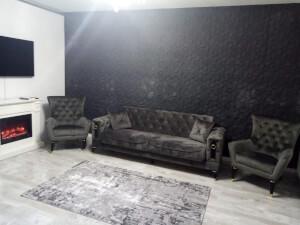 Set canapea cu 2 fotolii - imaginea 04