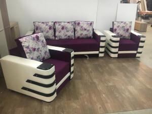 Set canapea cu fotolii - model Lara