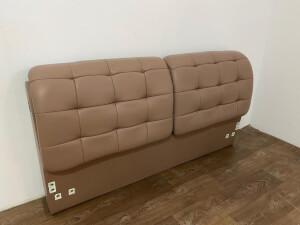 Tăblie pat piele ecologică cappuccino