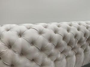 Tăblie pat tapițat gri - model GOLD 1