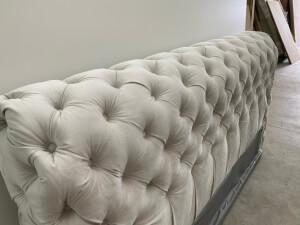 Tăblie pat tapițat gri - model GOLD 2