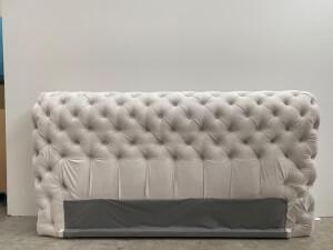 Tăblie pat tapițat gri - model GOLD 3