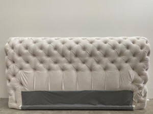 Tăblie pat tapițat gri - model GOLD