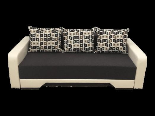 Canapea extensibilă wenge crem cu saltea relaxa și brațe subțiri - MIRELA