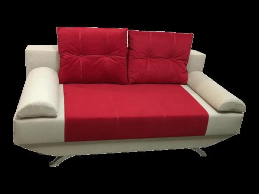 Canapea extensibilă roșu crem, confortabilă, 190 x 100 cm, perne incluse - NEW STYLE