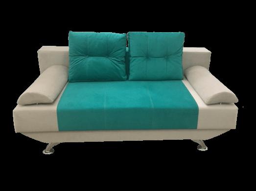 Canapea extensibilă verde crem cu ladă de depozitare - NEW STYLE