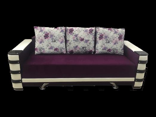 Canapea extensibilă ladă pentru depozitare, tapițerie mov alb Lara