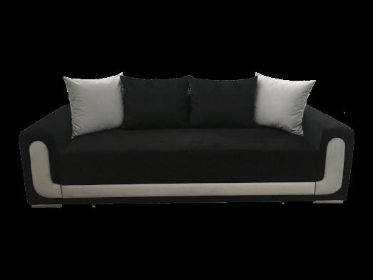 Canapea extensibilă elegantă, negru gri, saltea relaxa și ladă depozitare - EVA