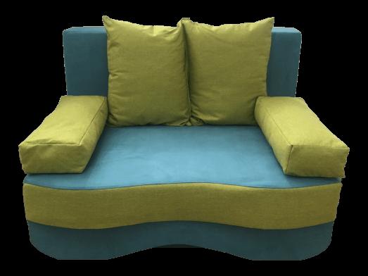 Canapea extensibilă 2 locuri verde - JUNIOR