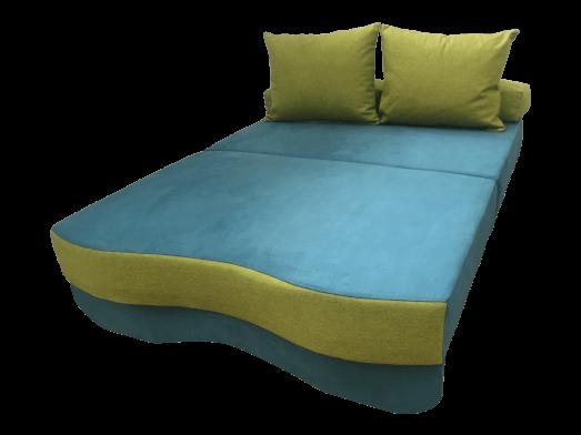 1-48-8484-canapea-extensibila-2-locuri-JUNIOR-albastru-verde-extinsa