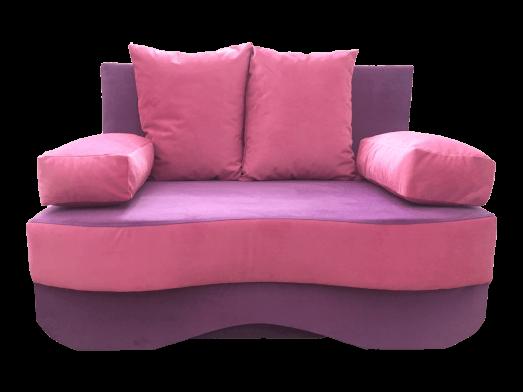 Canapea extensibilă 2 locuri mov - JUNIOR