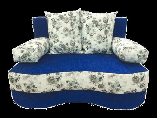 Canapea extensibilă 2 locuri albastră - JUNIOR