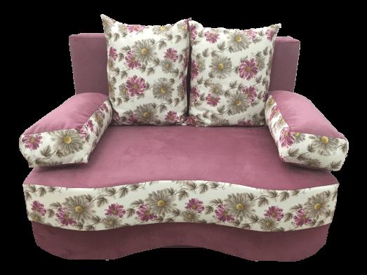 Canapea extensibilă 2 locuri roz - JUNIOR