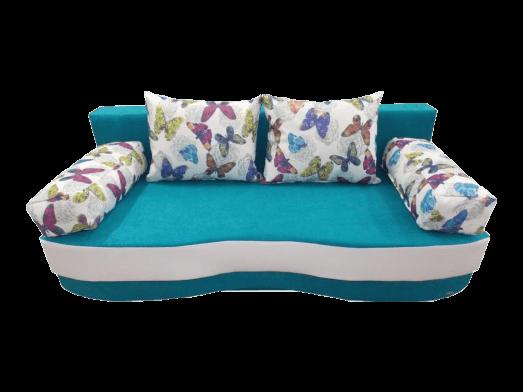 Canapea extensibilă 3 locuri albastru - ROXY