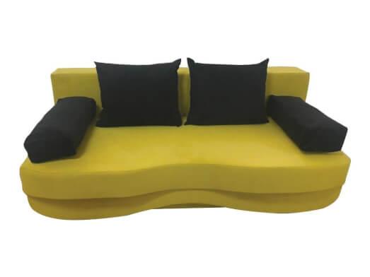 Canapea extensibila 3 locuri galben negru - ROXY