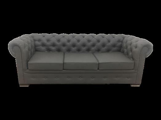Canapea extensibilă 3 locuri, GRI - model CHESTERFIELD