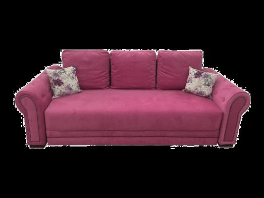 Canapea extensibilă roz închis - model ALEXIA