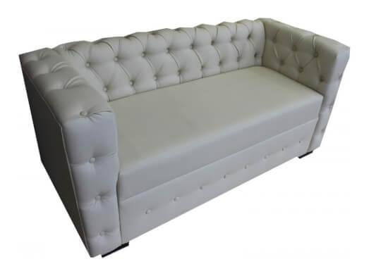 Canapea fixă 2 locuri, gri deschis - model BAR