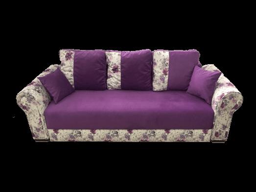 Canapea extensibilă mov cu flori - model BELLA