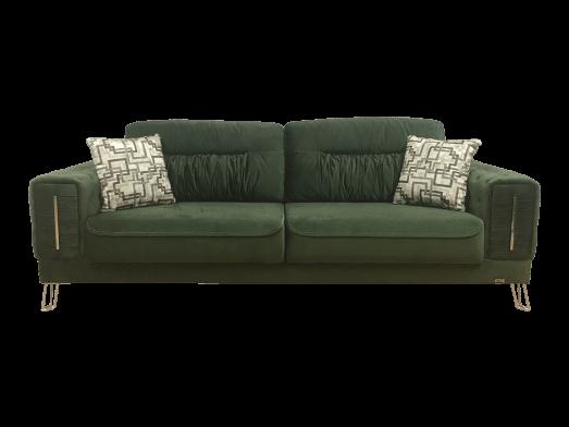 Canapea extensibilă 3 locuri, verde - model BELLINI